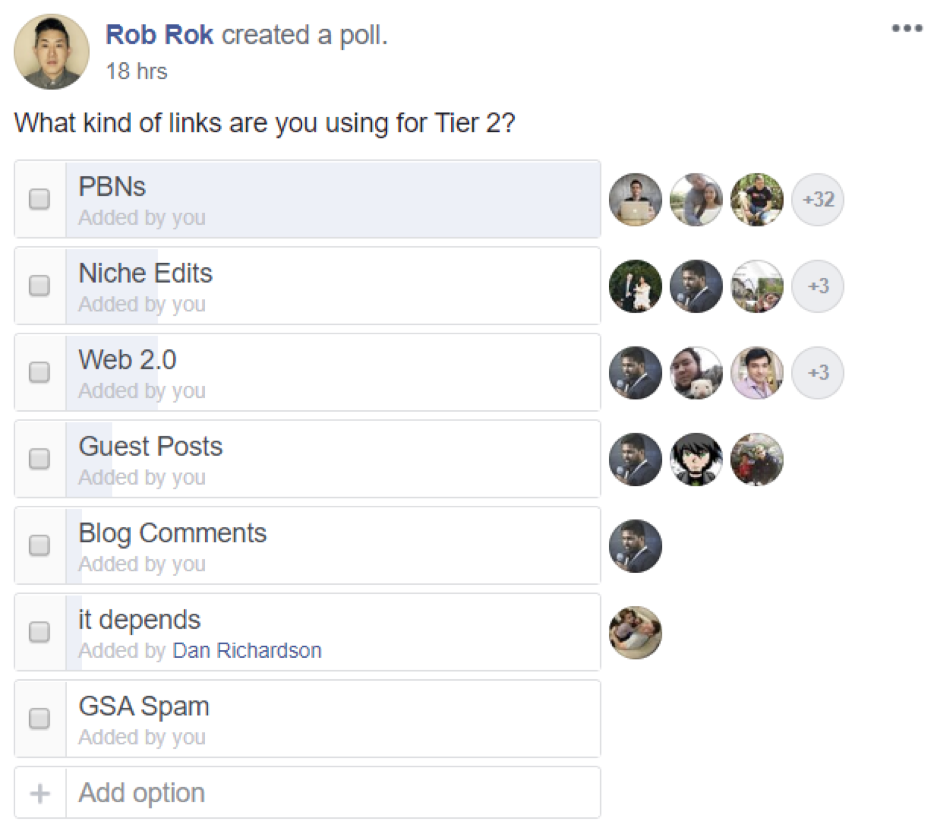 Tier2 Facebook Poll